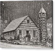 The Klondike Presbyterian Church At Juneau, Alaska Acrylic Print