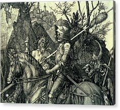 The Knight, Death And The Devil Acrylic Print by Albrecht Durer or Duerer