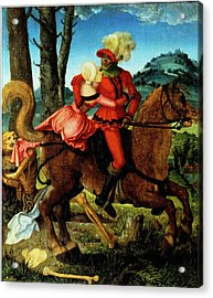 The Knight Young Girl And Death Acrylic Print by Hans Baldung