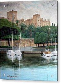 The Knights Castle Acrylic Print by Anastassios Mitropoulos