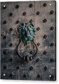 The Knocker At Leeds Castle Acrylic Print by Marie  Cardona