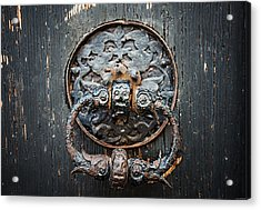 The Knocker Acrylic Print by Ryan Wyckoff