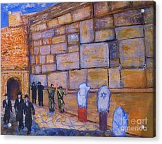 The Kotel Acrylic Print by Donna Dixon