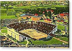 The L S U Stadium In Baton Rouge La Around 1940 Acrylic Print by Dwight Goss