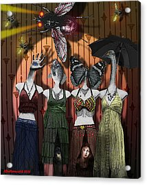 The Ladies Club Acrylic Print by Larry Butterworth