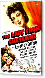 The Lady From Cheyenne, Us Poster Acrylic Print by Everett