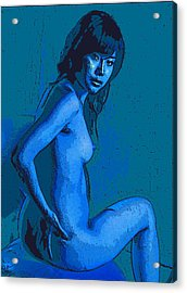 The Lady In Blue Acrylic Print