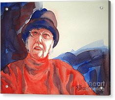 The Lady In Red Acrylic Print by Kathy Braud