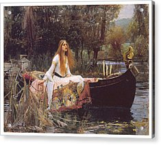 The Lady Of Shallot Acrylic Print by John William Waterhouse