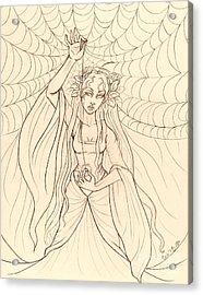 The Lady Of Shalott Acrylic Print by Coriander  Shea