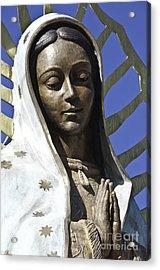 The Lady Prays Acrylic Print by Terry Rowe