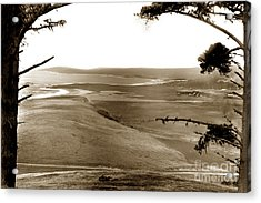 The Lagoon At The Mouth Of The Carmel River  From Fish Ranch California 1905 Acrylic Print
