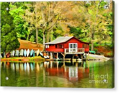 The Lake House Acrylic Print by Darren Fisher