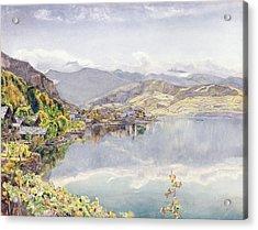 The Lake Of Lucerne, Mount Pilatus Acrylic Print