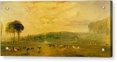 The Lake, Petworth Sunset, Fighting Bucks, C.1829 Acrylic Print