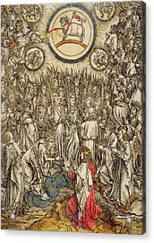 The Lamb Of God Appears On Mount Sion, 1498  Acrylic Print by Albrecht Durer or Duerer