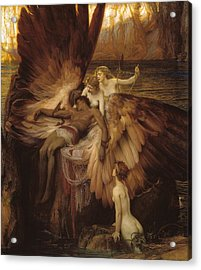 Acrylic Print featuring the painting The Lament For Icarus by Herbert James Draper