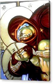 The Lamentation Acrylic Print by Sonya Grigorova