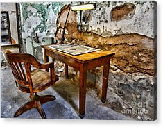 The Lamp And The Chair Acrylic Print by Paul Ward