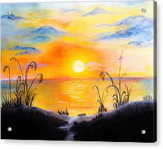 The Land Of The Dying Sun Acrylic Print by Nirdesha Munasinghe