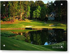 Golf At The Landing #3 In Reynolds Plantation On Lake Oconee Ga Acrylic Print by Reid Callaway