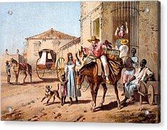 The Landlord, 1840 Acrylic Print by Federico Mialhe