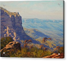 The Landslide Katoomba Acrylic Print by Graham Gercken