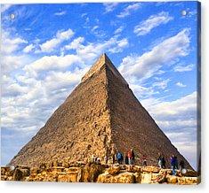 The Last Ancient Wonder - Egyptian Pyramid Acrylic Print by Mark E Tisdale