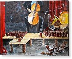 The Last Concert Listen With Music Of The Description Box Acrylic Print by Lazaro Hurtado