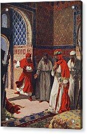 The Last Council Of Boabdil Acrylic Print by John Harris Valda
