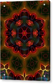 Acrylic Print featuring the digital art The Last Flower II by Owlspook