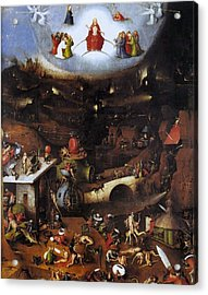 The Last Judgment - Central Panel Acrylic Print by Hieronymus Bosch