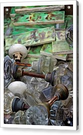 The Last Knobs Acrylic Print by Udo Dussling