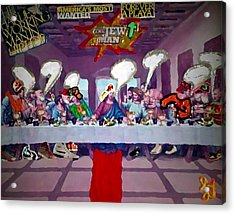 Acrylic Print featuring the painting The Last Last Supper by Lisa Piper