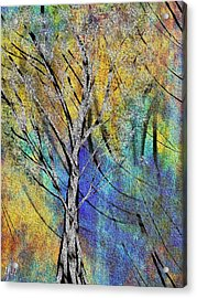 Acrylic Print featuring the painting The Last Leaf by Yul Olaivar