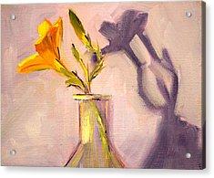 The Last Lily Acrylic Print by Nancy Merkle