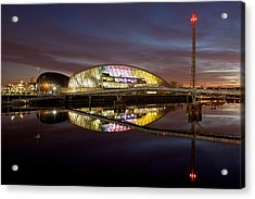 The Last Of The Light At The Glasgow Science Centre Acrylic Print