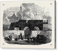 The Last Of The Old Fleet Prison 1868 Acrylic Print by English School