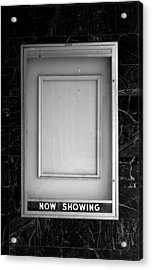 The Last Picture Show Acrylic Print by Vince  Risner