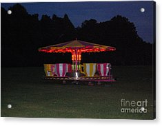 The Last Ride Of The Night Acrylic Print by Linda Prewer