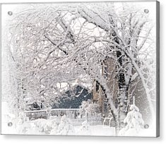 Acrylic Print featuring the photograph The Last Snow Storm by Kay Novy