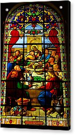 Acrylic Print featuring the photograph The Last Supper In Stained Glass by John S