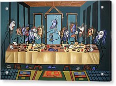 The Last Supper Acrylic Print by Anthony Falbo