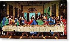 The Last Supper By Leonardo Da Vinci Recreated In Recycled Vintage License Plates Acrylic Print
