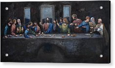 The Last Supper Acrylic Print by Carole Foret
