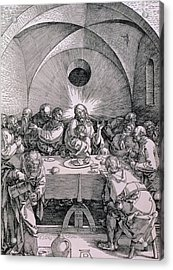 The Last Supper From The 'great Passion' Series Acrylic Print by Albrecht Duerer
