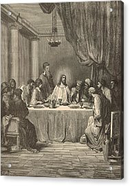 The Last Supper Acrylic Print by Antique Engravings
