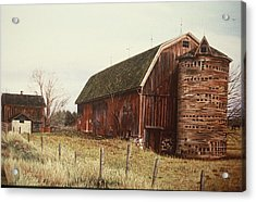 The Last Wooden Silo Acrylic Print