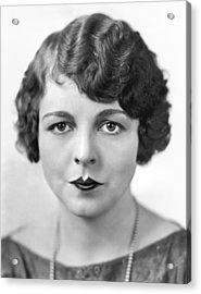 The Latest Fad In Lip Makeup Acrylic Print