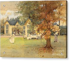 The Lawn Tennis Party Acrylic Print by Arthur Melville